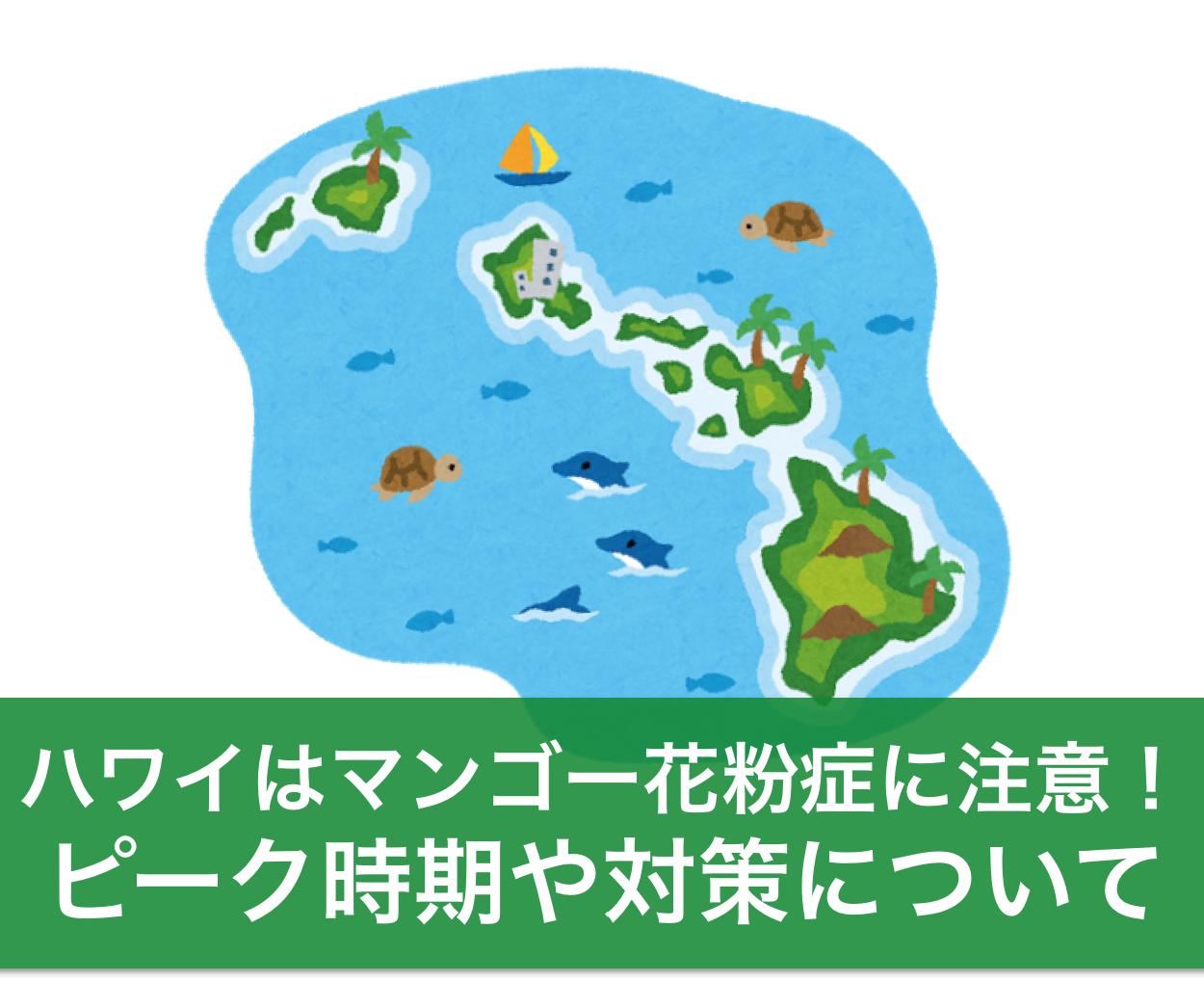 ハワイ旅行はマンゴー花粉症に注意!時期やピーク情報も